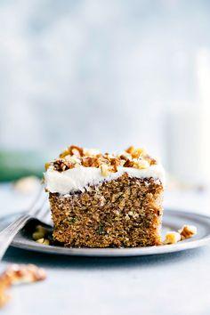 Cinnamon Zucchini Walnut Cake with Cream Cheese Frosting   The Recipe Critic