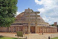 sanchi stupa -beautiful monuments of India- wiwigo Sanchi Stupa, Madhya Pradesh, Incredible India, Amazing, Taj Mahal, Places To Go, The Incredibles, Monuments, World