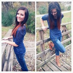 Ombre hair, boots, #falloutfit #lovethis