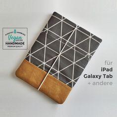 Tablet-PC-Taschen - Tablettasche • iPad • Galaxy • Vegan • Anthrazit - ein Designerstück von Kuratist bei DaWanda