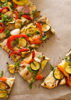 This Grilled Vegetable and Fontina Pizza recipe is wonderfully customizable for whatever summer produce you have on hand. In our opinion, the more colorful the veggies the better!