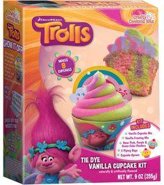 Dreamworks Trolls Tie Dye Vanilla Cupcake Kit