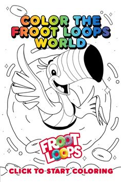 Follow your nose with Toucan Sam and help your kids color in the Froot Loops World. Check out more fun activities and recipes on our Pinterest page Coloring Pages To Print, Coloring For Kids, Heartbeat Tattoo With Name, Chalkboard Restaurant, Buddah Doodles, Shiva Tattoo Design, Diy Clothes Life Hacks, Froot Loops, Barbies Pics