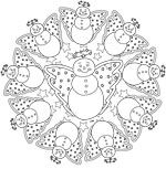 Oh, the crafty winter Christmas fun we can have with this #snowman #mandala clip art in black and white.