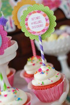 Mooshka Doll Tea Party with Lots of Cute Ideas via Kara's Party Ideas   Cake, decor, cupcakes, games and more! KarasPartyIdeas.com #mooshka #mooshkadoll #partyideas #partydecor (24)