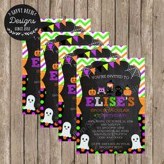 Halloween Birthday Invitation  Halloween by SavvyDeetsDesigns