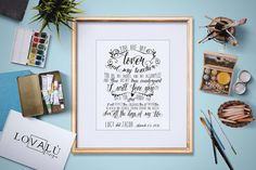 Custom Personalized Wedding Vows Printable. by LovaluDesign