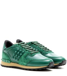 Valentino - Rockstud leather sneakers - Worried the sneaker is too  laid-back for your