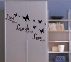 Live Laugh Love - x - R65, Live Laugh Love, Vinyl Decals, Stickers, Wall Art, Home Decor, Decoration Home, Room Decor, Home Interior Design