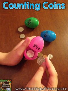 Coin Counting Easter Activity. This will give your kids plenty of practice to count the coins and match them correctly with the written amounts on these Easter eggs. http://hative.com/fun-easter-activities-and-games-for-kids/