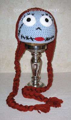 CUSTOM ORDER ONLY Sally Nightmare Before Christmas by WICKEDWEBZ, $30.00 Hat idea.