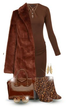 """""""Wear it in Brown !"""" by oribeauty-cosmeticos ❤ liked on Polyvore featuring Joseph, Givenchy and Jessica Simpson"""