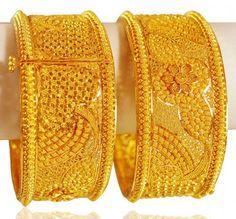 Save 70 Gold Bangles 22k Gold Kadas Code Ajba63358 22kt Gold Kada