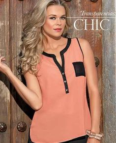 Pretty Blouse Color & all Cool Outfits, Casual Outfits, African Fashion, Blouse Designs, Blouses For Women, Tunic Tops, Womens Fashion, Style, Coral