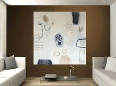 """Abstract Painting extra large painting Acrylic ORIGINAL 54"""" painting abstract painting , from jolina anthony signet"""