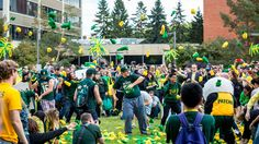 The University of Alberta Alumni Association held a giant sock fight for charity to mark the association's birthday in 2015 and to celebrate hitting th. University Of Alberta, Best University, Charity, Panda, Socks, Celebrities, Celebs, Sock, Stockings