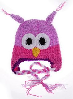 Double Baby Knitting Wool Winter Beanie Hat Owl Purple Rose 6-24 Moths. Materials:Knitting Wool. Beautiful & Warm - The latest fashion trend super cute and stylish gift for your baby. Recommend for baby 6-24 months old. Hat Height: app. 17cm/6.7inch,Hat width:app. 20cm/7.9 inch. The perfect accessory for any baby outfit.