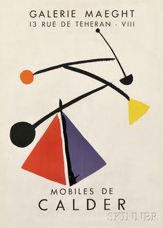 Alexander Calder (American, 1898-1976)      Galerie Maeght 13 Rue de Teheran - VIII Mobiles de Calder