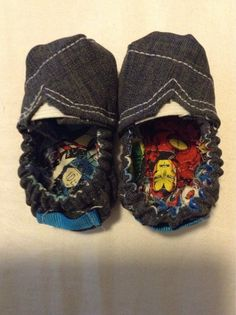 """Baby Tom's-Inspired Shoes! Newborn Size """"Saul"""" Style Grey Marvel Comics on Etsy, $15.00"""
