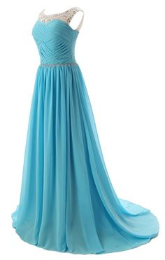 Beaded Straps Bridesmaid Prom Dress with Sparkling Embellished