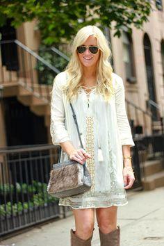 Embroidered Smock Dress #KateMoss #Topshop #NYFW