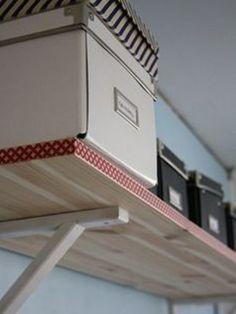 Decora tus estanterías con washi tape