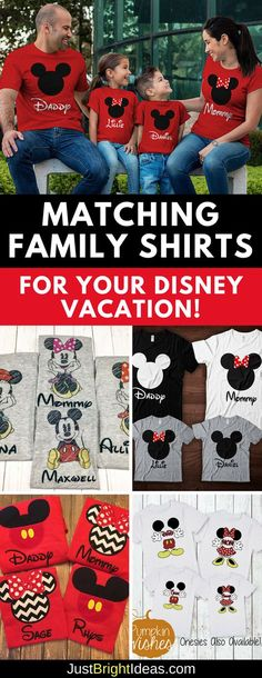 b044e080ba 12 Totally Cute Matching Disney Family Shirt Ideas for Your Vacation