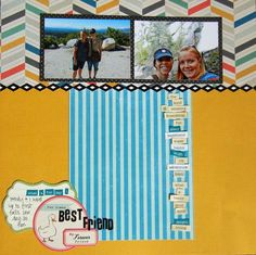 Layout by Jennie Blaser created with the Scrapbook Circle Note to Self kit