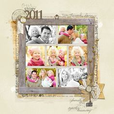 Love the mix of color + black and white photos in this page from Lori S.