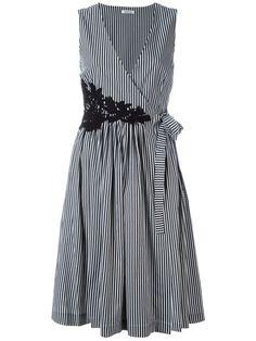P.A.R.O.S.H. платье в полоску с V-образным вырезом