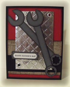 Great masculine card for the handyman