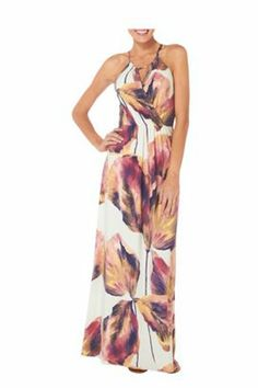 London Times Womens Tropical Petal Maxi Dress - maybe go as casual as something like this?