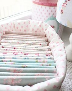 organised fabric in tilda basket