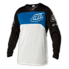 2014 Troy Lee Designs SE Pro Bike Cycling Jersey - White Blue