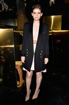 Kate Mara wearing the Jimmy Choo ANOUK pump at the H&M fashion show during #PFW