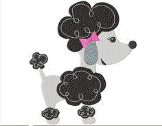 Pink Poodle  -  Chic Poodle in Paris - Pudel - von sterntaler's house auf DaWanda.com