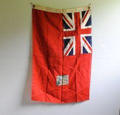Vintage Canadian Flag 1920s by LittleDogVintage, $150.00