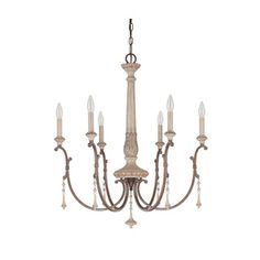 Capital Lighting Chateau Collection 6-light French Oak Chandelier