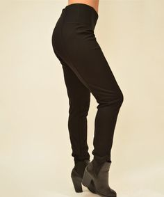 Another great find on #zulily! Black High-Waist Leggings by Simply Couture #zulilyfinds