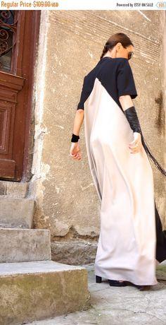 d50fd711a011 SALE New Collection XXLXXXL Maxi Dress   Black and Ivory Elfenbein Kleider,  Herbstkleider, Lange