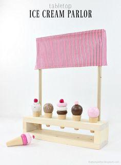 diy tabletop ice cream parlor