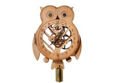 Wooden wall clock owl by WoodDecorTM on Etsy