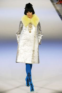 Christian Lacroix Fall 2006 Collection: inspired by fur neck collars popular during Northern Renaissance