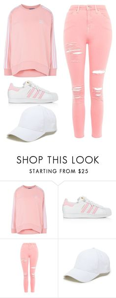 """Untitled #34"" by iamalyceparis on Polyvore featuring adidas Originals, adidas, Topshop, Sole Society and ADDIDAS"