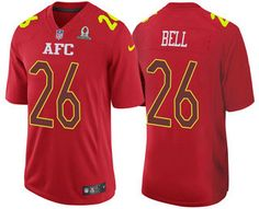 Men s AFC Pittsburgh Steelers  26 Le Veon Bell Red 2017 Pro Bowl Stitched  Nike Game Jersey c3cde5acf