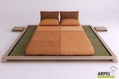 Tiefliegendes Bett Aiko mit Tatami