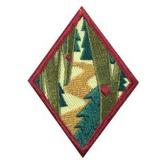 Cadette Trailblazing Badge. Badge requirements available in The Girl's Guide to Girl Scouting. $1.50.
