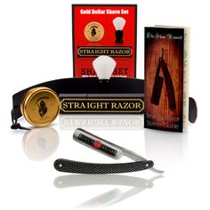 StraightRazors.com - Shave Ready - Gold Dollar Straight Razor With Premium Shave Kit.  The perfect set for beginners.