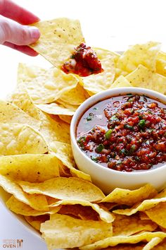 Make some homemade Restaurant-Style Salsa for your next summer party with this easy recipe!