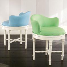 Minnie Stool | PBteen $239 I want this green swivel chair!